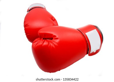 Boxing Gloves on the table in studio