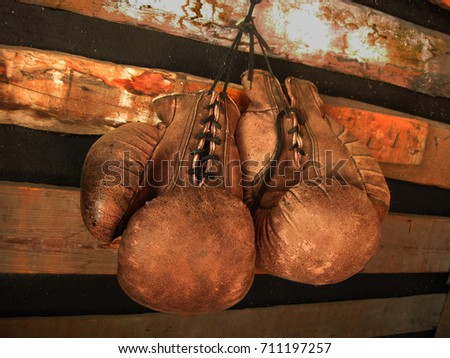 Boxing gloves on the