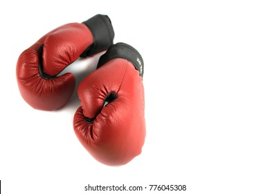 boxing gloves on a white background are isolated