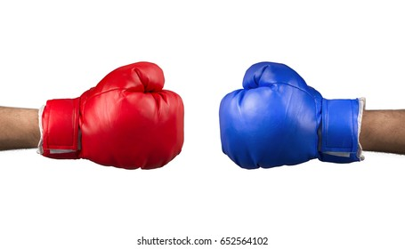 Boxing gloves are ready to fight