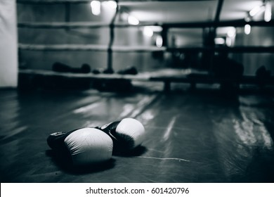 Boxing gloves in the ring