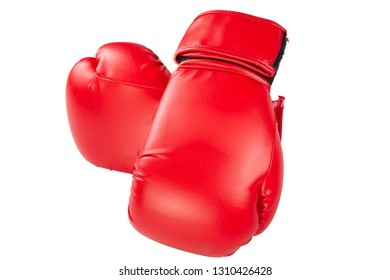boxing gloves sport pair for training isolated in white background