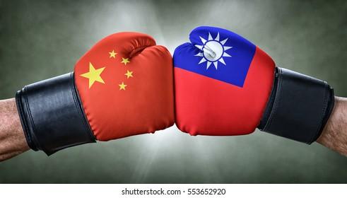 A boxing match between China and Taiwan