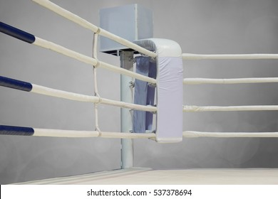 Boxing ring isolated on dark blackground. This has clipping path.
