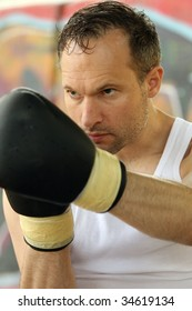 boxing workout with punching exercises