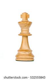 boxwood black king chess piece isolated