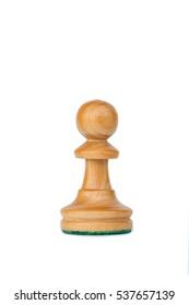 boxwood white pawn profile chess piece isolated