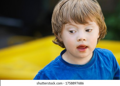 Boy (5-6) with Down syndrome