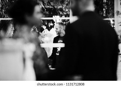 The boy admiring at his girl