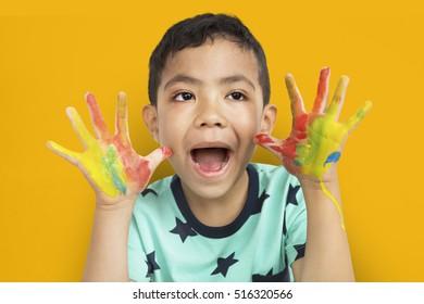 Boy Artwork Kid Child Creative Imagination Concept