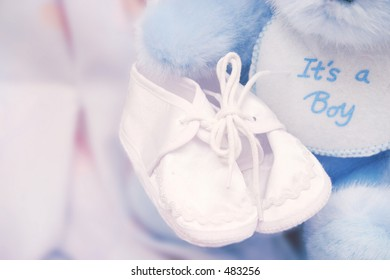 It's a boy! – Baby booties