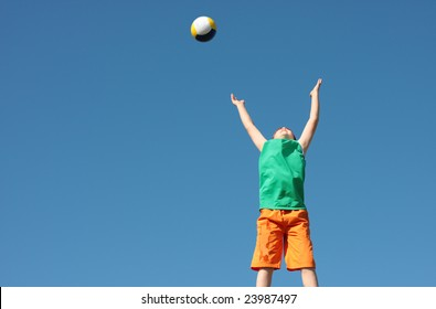 boy with ball outdoor