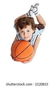boy with a basketball ball and white bottom to be able to write what you want