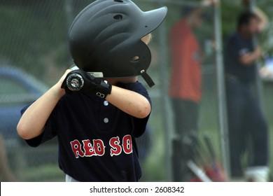 Boy up to bat
