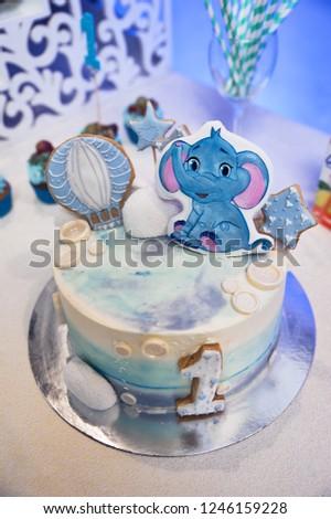 Boy Birthday Cake Smash Infant Boys First Adorable Baby Smashing