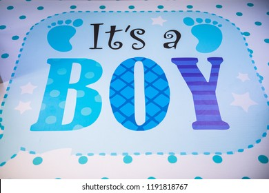 its a boy blue card its boy message announcement new arrival in the