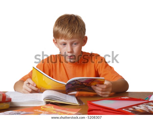 boy with book and copy-book