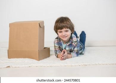 boy with box