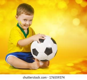 Boy Brazilian fans