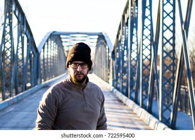 boy in bridge