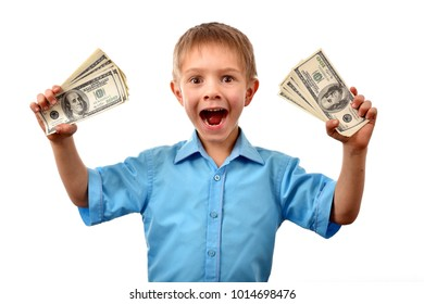 The boy is a businessman. Good profit. Child allowance.