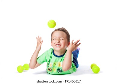 boy catches the ball
