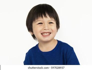 Boy Cheerful Studio Portrait Concept