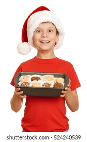 boy with cookies for santa, winter holiday christmas concept