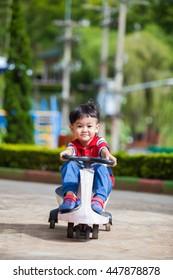 Boy cyclist on a road bike.