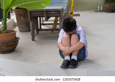 boy do not want to go to school, mother hit her kid, children crying, little boy cry, feeling sad, young boy unhappy, family violence concept, selective focus and soft focus