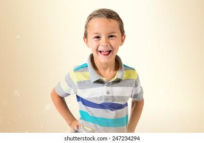 Boy doing a joke