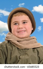Boy Dressed for Winter