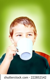 boy drink from a cup