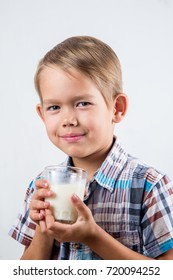 boy drinks cow's milk