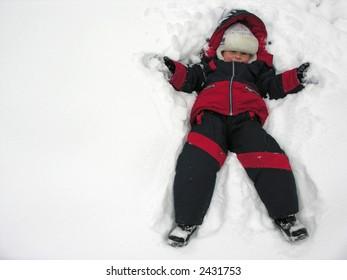 boy fall to snowbank