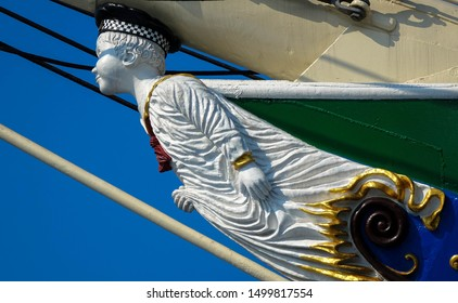 Boy figurehead on sailing ship, Habour Hamburg