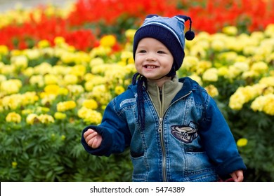 Boy and fowers