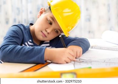 A boy future engineer