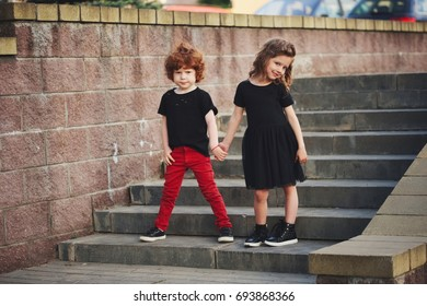 boy and girl on the street