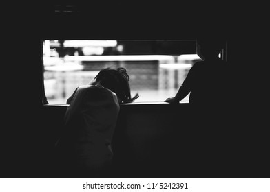 Boy and Girl on the Train Ride