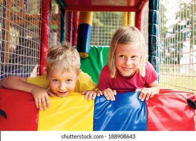 boy and girl playing in the game maze