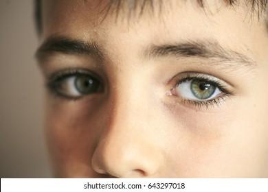 Boy with green eyes