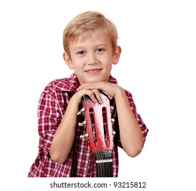 boy with guitar portrait