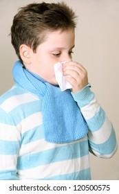 The boy with handkerchief