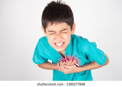 Boy has chest pain heart attack disease