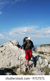 boy in hike