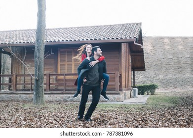 boy with his girlfriend in his arms