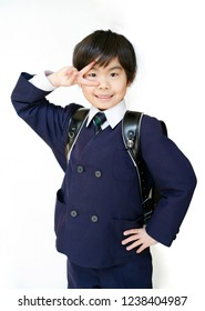 Boy of the Japanese first grader