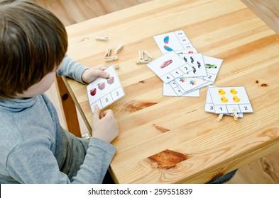 boy learning math