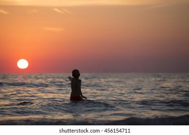 Boy in the Ocean.